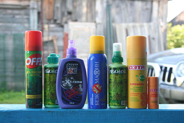 Существует множество химических средств, позволяющих если не навсегда, то надолго избавиться от соседства с насекомыми