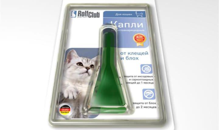 Быстро вылечить 2-3-месячного котенка помогут капли от блох