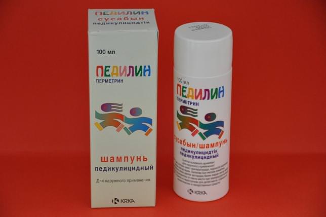 В качестве действующего вещества шампуня «Педилин» выступают тетраметрин и малатион