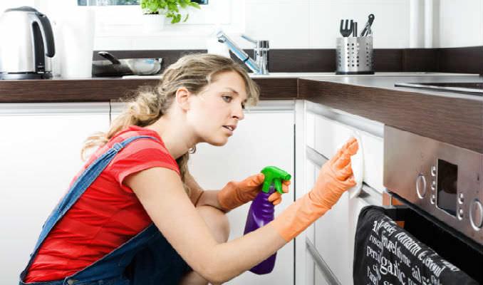 Уничтожить яйца пищевой моли можно тщательно промыв все шкафы и поверхности на кухне раствором с хозяйственным мыло и уксусом