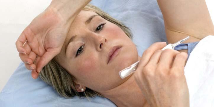 Помимо стандартных симптомов укус паразита может спровоцировать повышение температуры