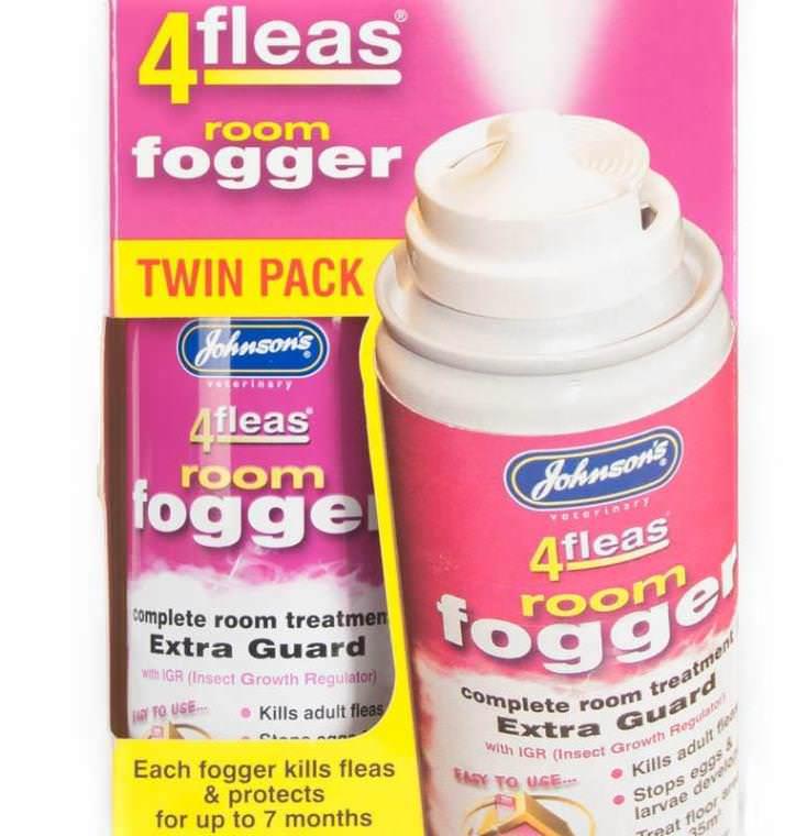 Спрей Adams Room Fogger действует на яйца и личиночную стадию блох и взрослых паразитов