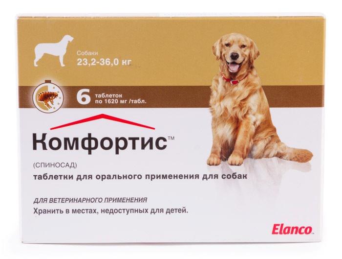 Таблетки «Комфортис» − удобный и простой способ защиты животных от блох