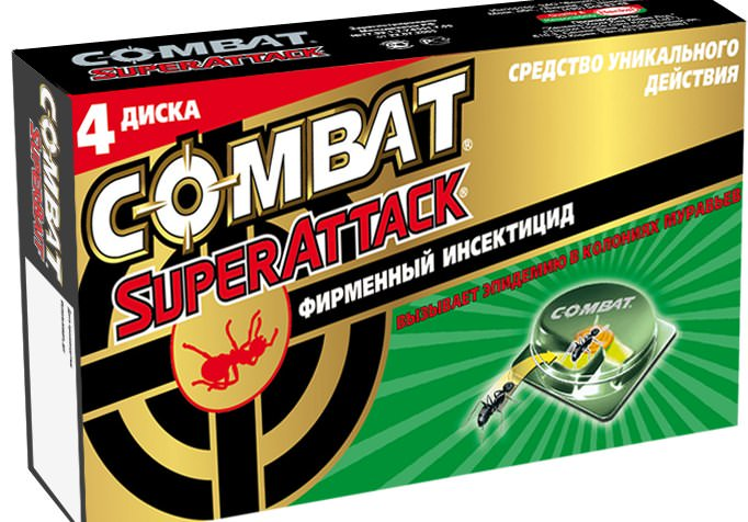 «Комбат» –  химическая ловушка для уничтожения муравьёв