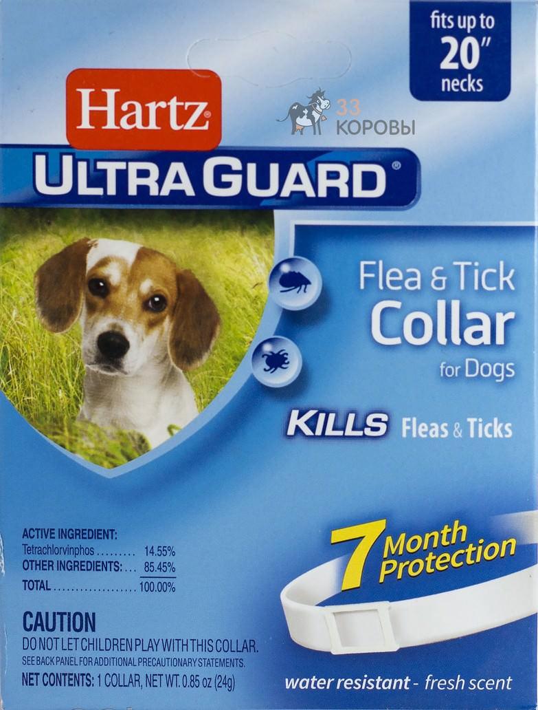 Ошейник Hartz эффективен так же, как шампунь. Он сохраняет эффект до 7 месяцев